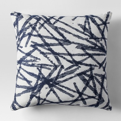 Blue Woven Brushstroke Throw Pillow - Project 62™