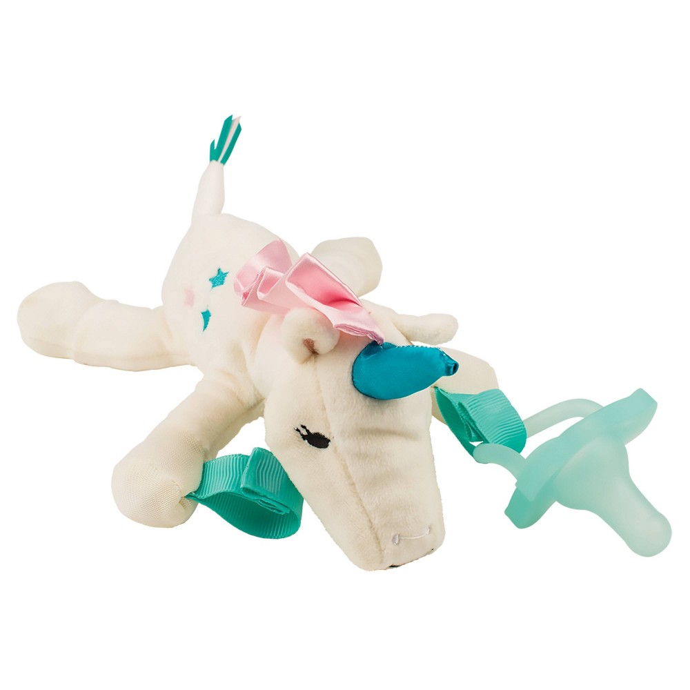 Image of Dr. Brown's Unicorn Lovey with Pink One-Piece Pacifier