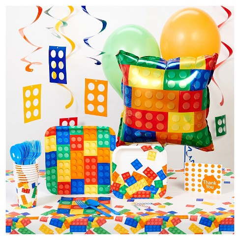 Building Block Party Tableware Pack