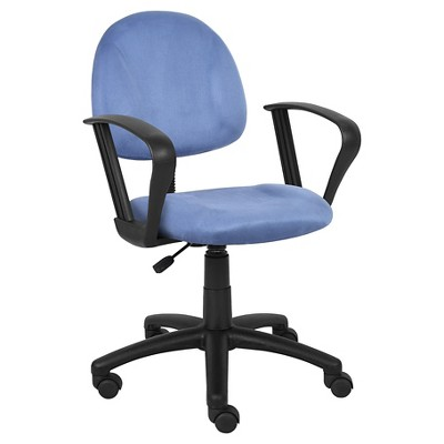 Microfiber Deluxe Posture Chair with Loop Arms - Boss Office Products