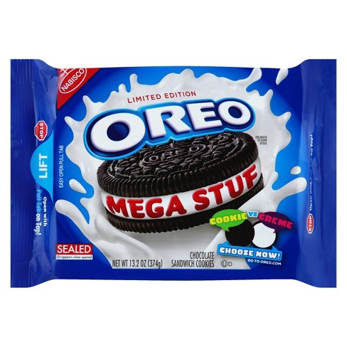 Oreo Mega Stuf Chocolate Sandwich Cookies - 13.2oz - image 1 of 1