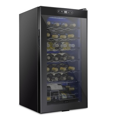 Schmecke 16.9 in. 28 Bottle Compressor Freestanding Wine and Beverage Cooler