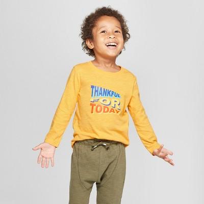 Toddler Boys' Thankful for Today Long Sleeve T-Shirt - Cat & Jack™ Orange 2T