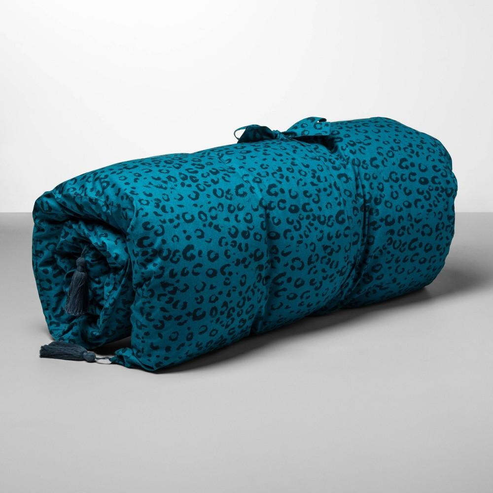 Decorative Animal Print Throw Bed Teal (Blue) - Opalhouse