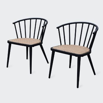 2-Pack Leisure Made Maria Aluminum Outdoor Dining Chair