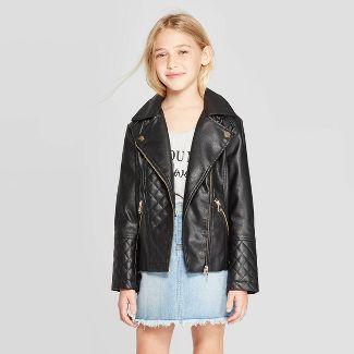 Girls' Moto Jacket - art class™ Black S