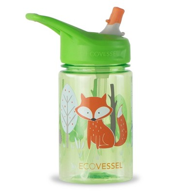 EcoVessel 12oz BPA-Free Reusable Plastic Kids' Water Bottle with Straw - Fox