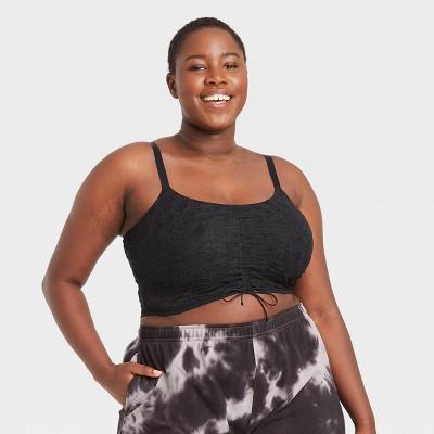 Women's Plus Size Lace-Up Bralette - Colsie™