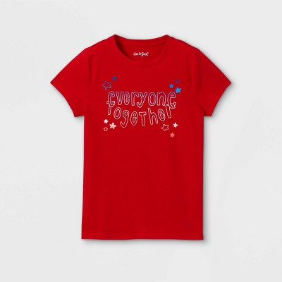 Girls' Everyone Together Graphic Short Sleeve T-Shirt - Cat & Jack™ Red
