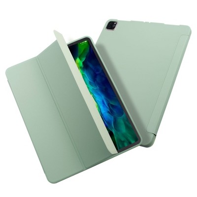 """Insten - Tablet Case for iPad Pro 11"""" 2020, Liquid Silicone, Frosted Back, Auto Sleep/Wake, Pencil Charging, Mint Green"""