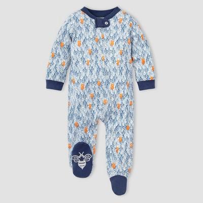 Burt's Bees Baby® Baby Boys' Organic Cotton Clustered Bear Sleep N' Play - Navy 3-6M