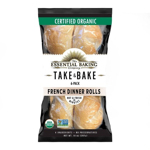 The Essential Baking Company Organic Take & Bake French Dinner Rolls - 6pk - image 1 of 1