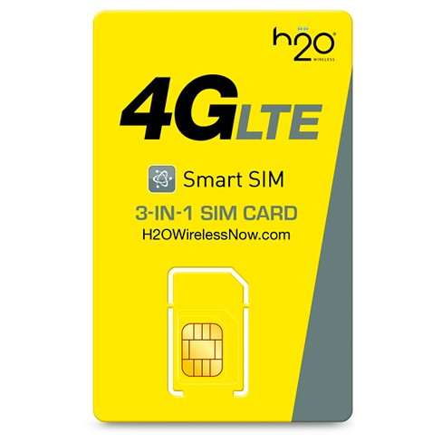 H2O 3-in-1 Smart Triple SIM Card - Yellow - image 1 of 2