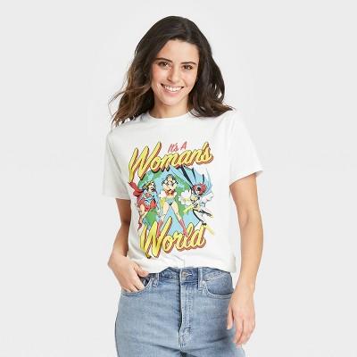 Women's Wonder Woman Short Sleeve Graphic T-Shirt - White