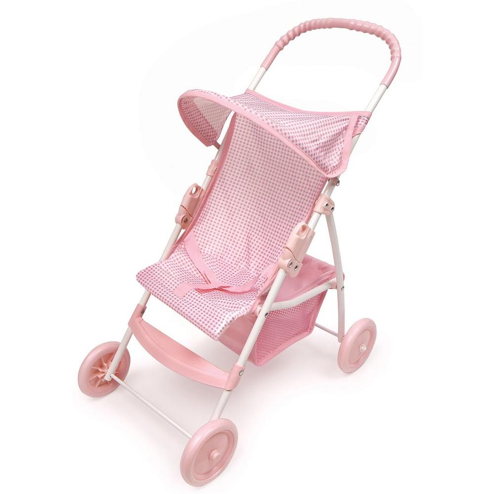 Badger Basket Doll Umbrella Stroller Pink White