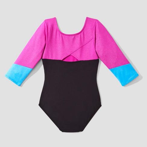 279171d63a3b Freestyle® By Danskin® Girls 3 4 Sleeve Activewear Leotard - Black ...