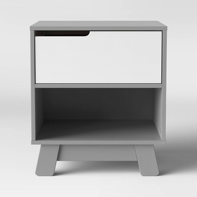 Babyletto Hudson Nightstand With Usb Port - Gray And White