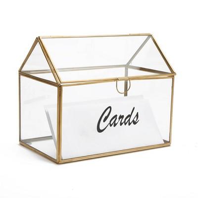 Mind Reader Card Holder Box Clear