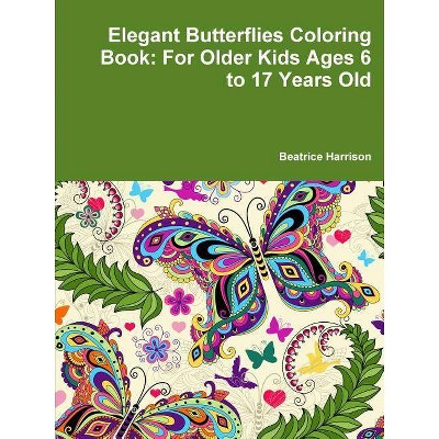 Elegant Butterflies Coloring Book - by  Beatrice Harrison (Paperback)