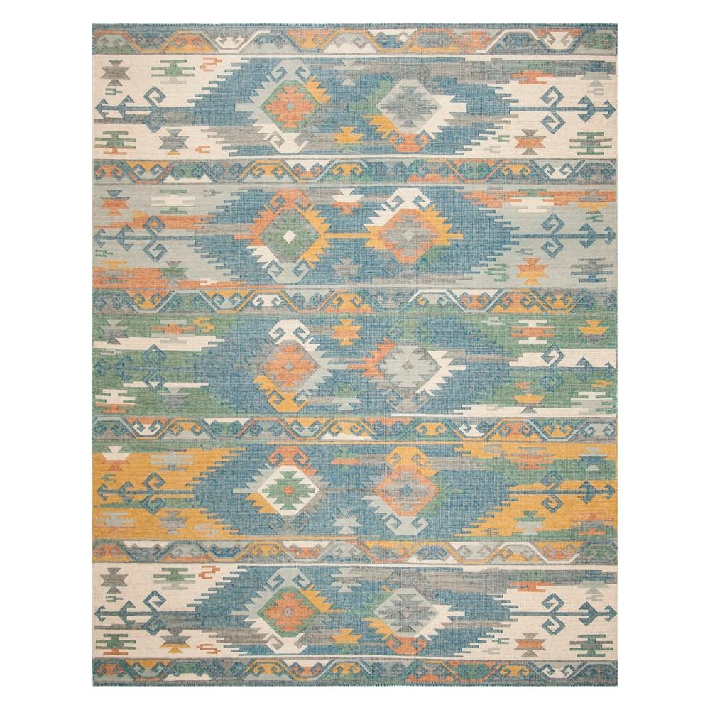Tribal Design Woven Area Rug 9'X12' - Safavieh, Blue/Multi