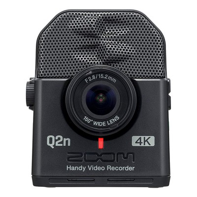 ZOOM Compact Q2N-4K Handy Recorder and 4K Camera for Live Streaming Music Videos with HD Capability, 150 Degree Lens, and 12 Lighting Presets, Black