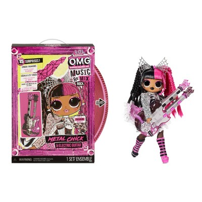 L.O.L. Surprise! OMG Remix Rock Metal Chick and Electric Guitar Fashion Doll