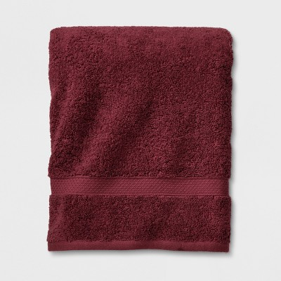 Perfectly Soft Solid Bath Towel Beet Juice Red - Opalhouse™