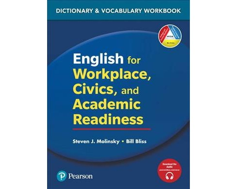 English for Workplace, Civics and Academic Readiness : Dictionary & Vocabulary Workbook -  (Paperback) - image 1 of 1