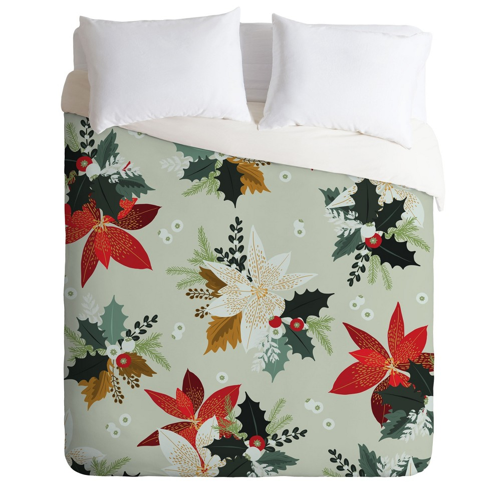 Twin/Twin XL Iveta Abolina Hello December Duvet Cover Set Red - Deny Designs