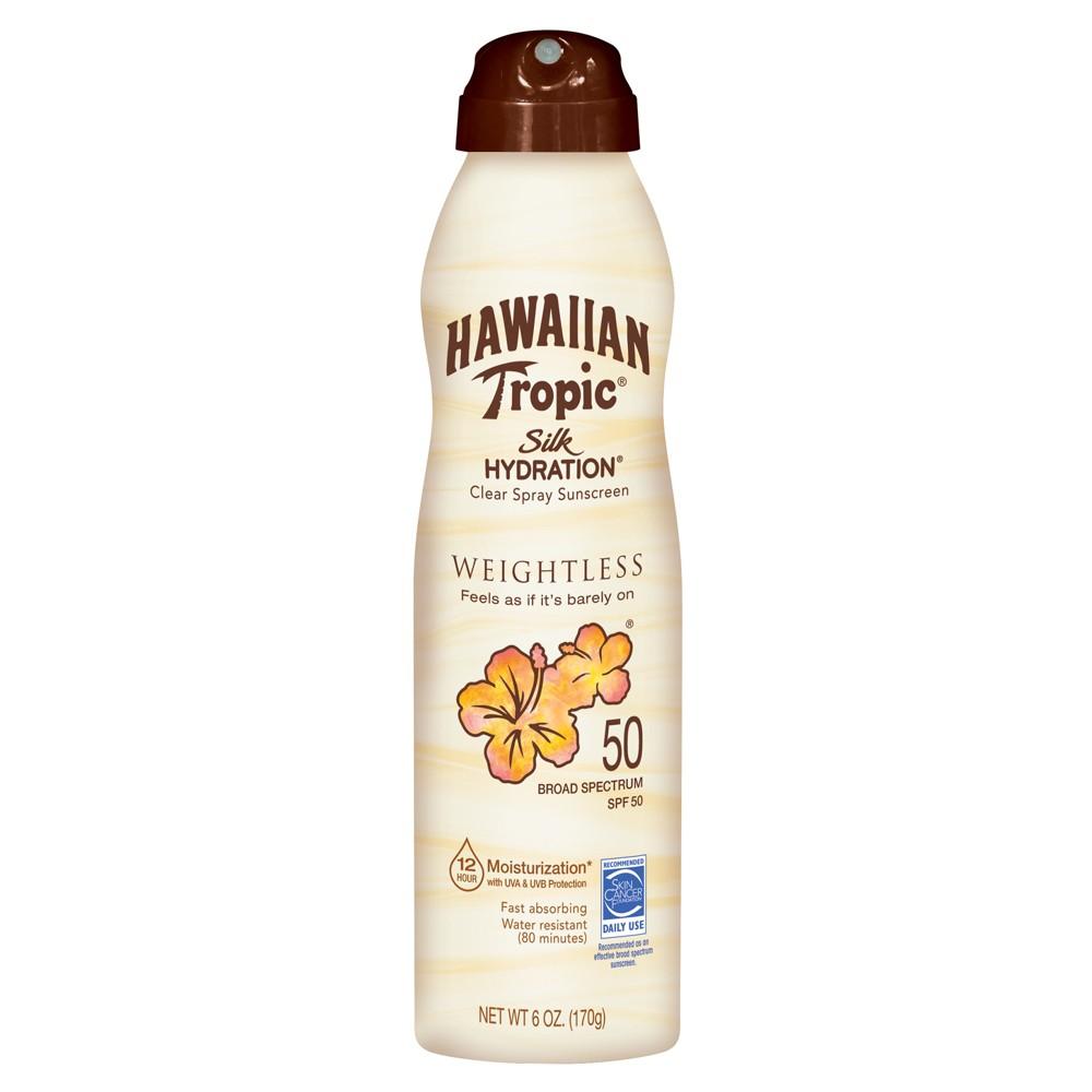 Hawaiian Tropic Silk Hydration Weightless Spray Sunscreen - Spf 50 - 6oz