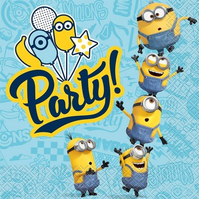Minions 2 16ct Lunch Napkins Turquoise
