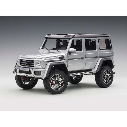 Mercedes Benz G500 4X4 2 Silver 1/18 Model Car by Autoart - image 1 of 4