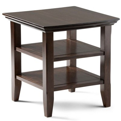 """19"""" Normandy Solid Wood End Table Tobacco Brown - Wyndenhall"""