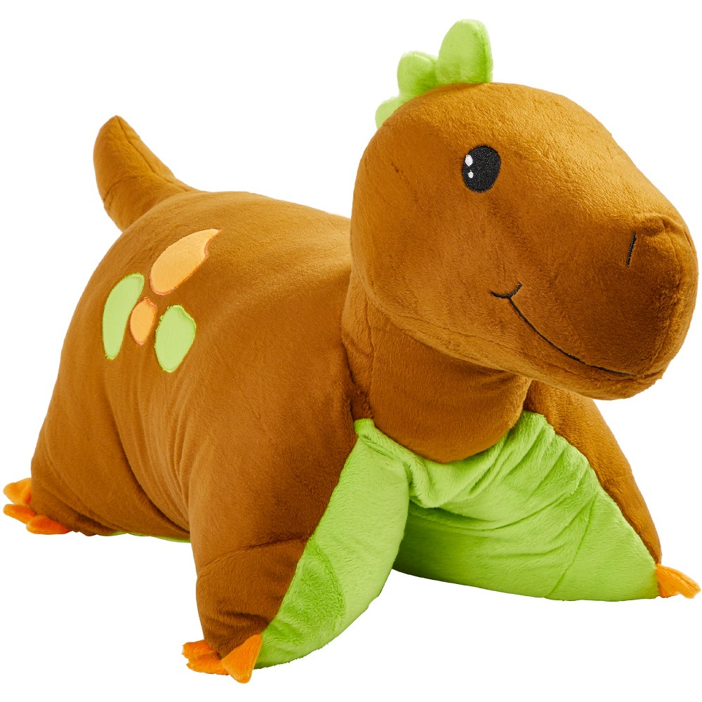 Image of Brown Dinosaur Pillow Pet