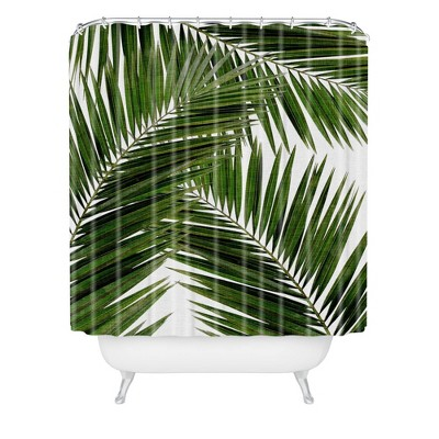 Green Leaf Shower Curtain Target
