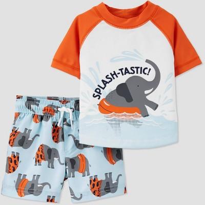 Baby Boys' 2pc Swim Elephant Rash Guard Set - Just One You® made by carter's Light Blue 9M