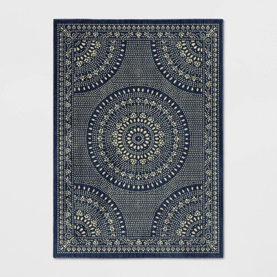 Butterfield Novelty Area Rug Navy   Threshold by Threshold