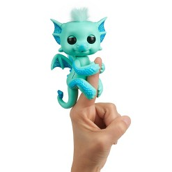 Fingerlings - Interactive Baby Dragon - Noa (Green with Blue)