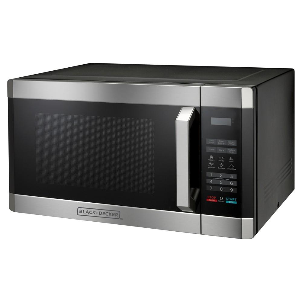 Black+decker 1.6 Cu. Ft. 1100 Watt Microwave Oven, Silver 51011484