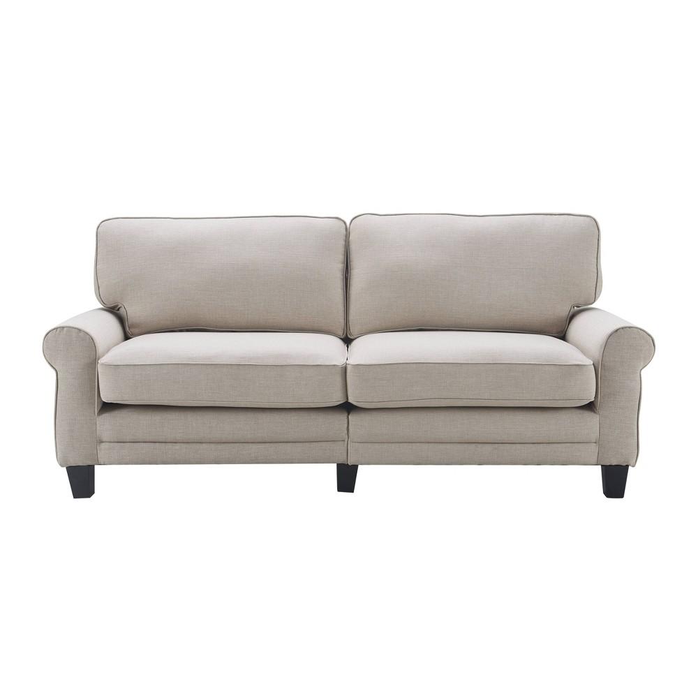 "Image of ""78"""" Copenhagen Sofa Light Gray - Serta"""
