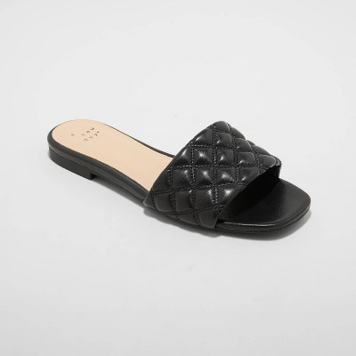 Women's Ama Quilted Slide Sandals - A New Day™
