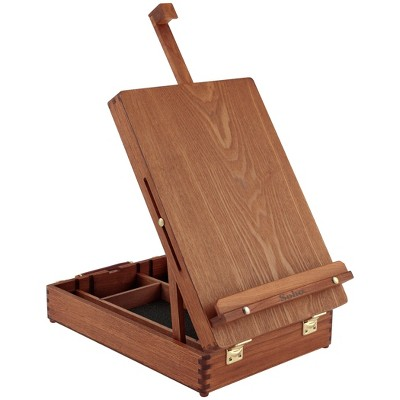Creative Mark Deluxe Table Easel and Sketch Box Walnut Finish