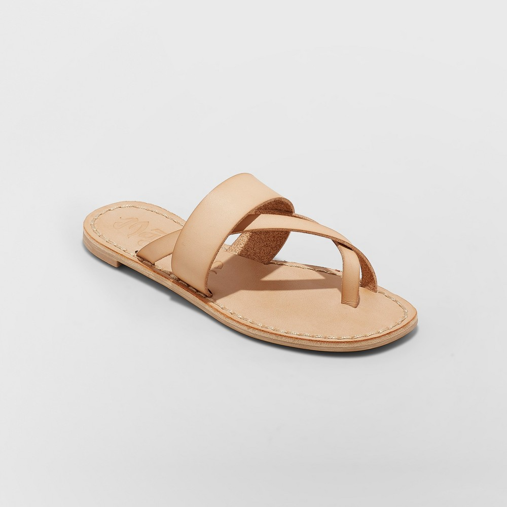 Women's Mad Love Kaden Monochromatic Flip Flop Sandals - Tan 8