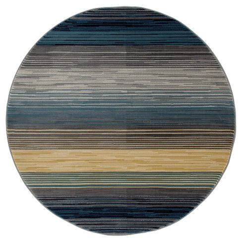 Heathered Stripe Border Woven Area Rug - Art Carpet - image 1 of 1