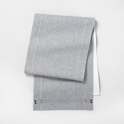 Textured Table Runner Gray - Hearth & Hand™ with Magnolia
