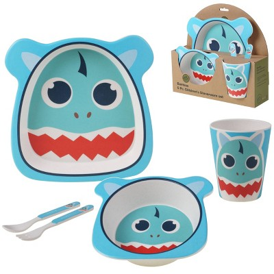 5pc Bamboo Shark Children's Dinnerware Set - Certified International
