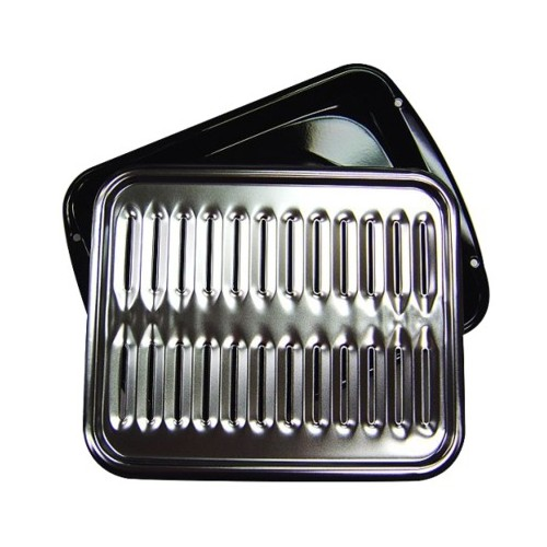 Range Kleen Broiler Pan - Black/ Chrome