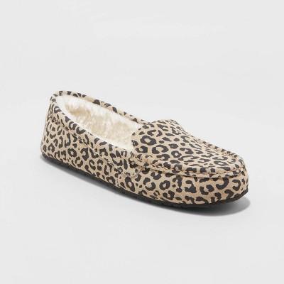 Women's Gemma Leopard Genuine Suede Moccasin Slipper - Stars Above™ Brown 8