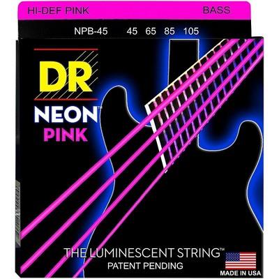 DR Strings NEON Hi-Def Pink Bass SuperStrings Medium 4-String