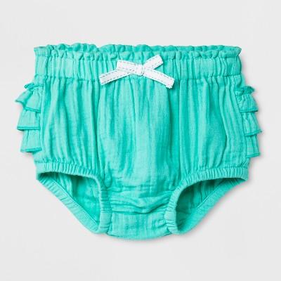Baby Girls' Bloomers - Cat & Jack™ Iridescent Green 0-3M